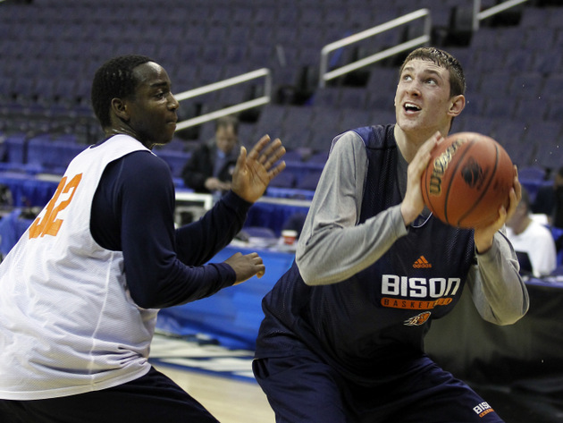 Mike Muscala hopes to lead Bucknell back to the NCAA tournament for second time in three years (AP)