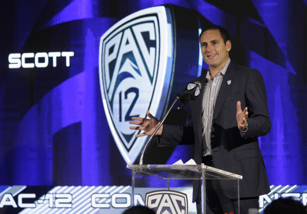 Pac-12 commissioner Larry Scott (AP)