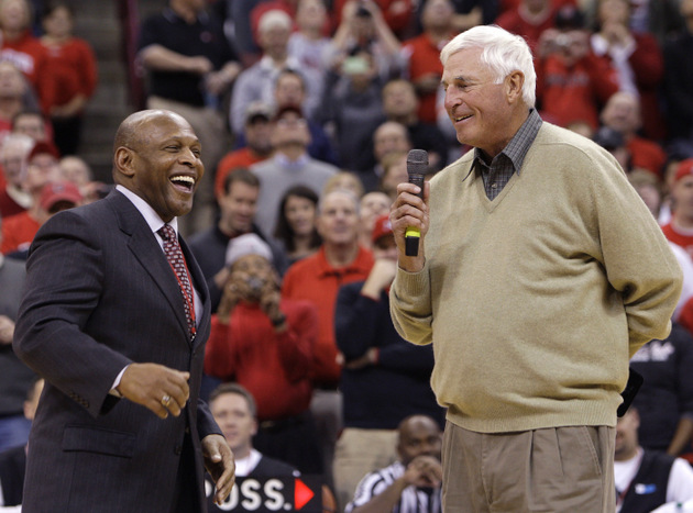 Bob Knight and other members of Ohio State's 1960 national title team were honored in 2011 (AP)