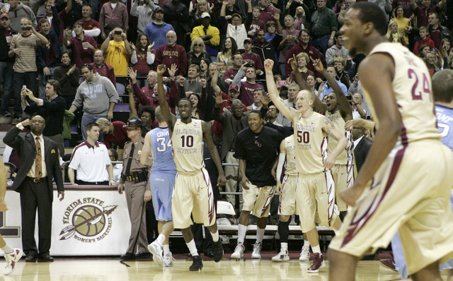 Florida State celebrates 90-57 win (AP)