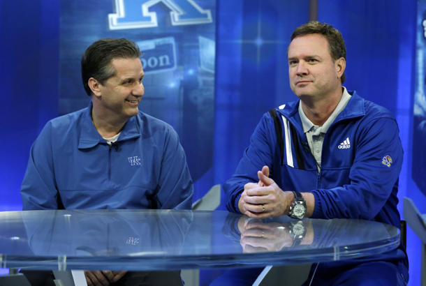 John Calipari and Bill Self (AP)