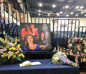 A memorial for Monica Quan at Titan Gym (via @AbbeyMastracco)