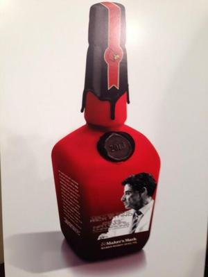 Rick Pitino's Maker's Mark bottle (via @KKCards)