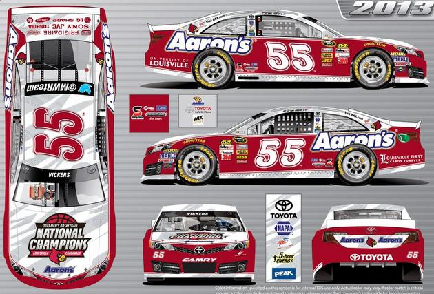 Brian Vickers will drive this car June 29 at Kentucky Speedway (via @ULFlyingCard)