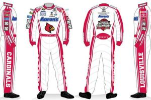 Vickers' fire suit at the race (via @ULFlyingCard)