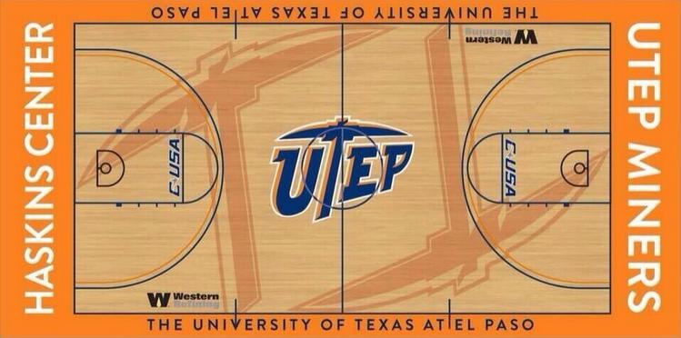 UTEP's new floor (via @CoachEwa)