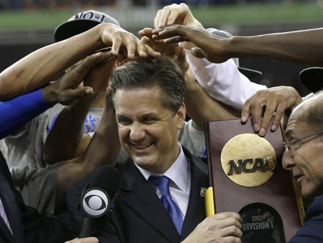 Will John Calipari be striking this pose again a year from now? It sure looks like a possibility. (AP)