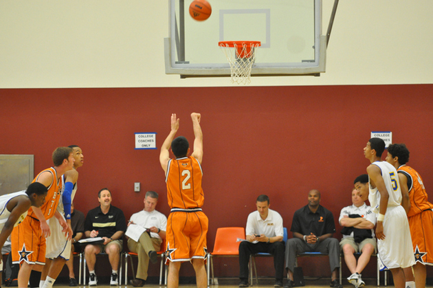 Zac Nuttall shoots a free throw (photo by Kristy Nuttall)