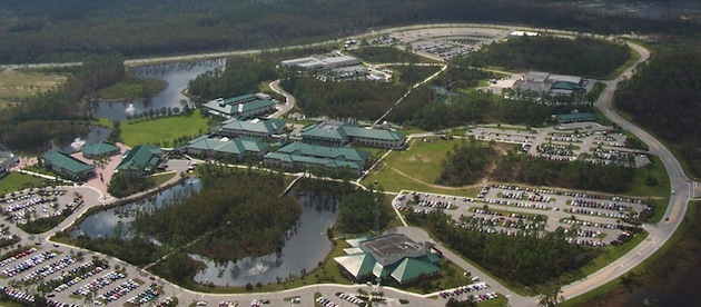 An aerial view of FGCU's campus in Ft. Myers. (FGCU)