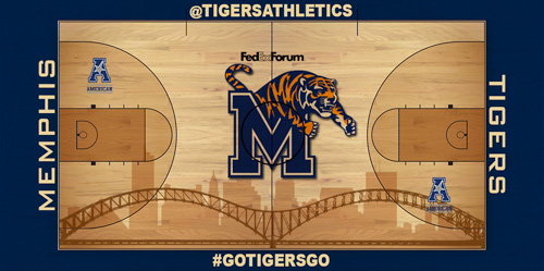 One of the four court designs Memphis fans can select (via Memphis athletics)