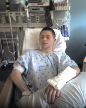 Weissman at the hospital (Jeremy Weissman)