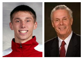 Jarrod Uthoff and Bo Ryan (via UWBadgers.com)