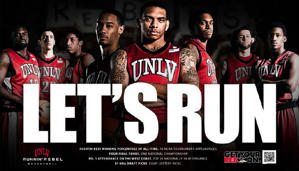 "UNLV's ""Let's Run"" marketing campaign coincided with a switch to a faster-paced system"