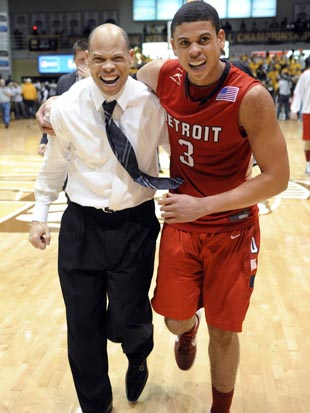 The McCallums have delivered Detroit with its first NCAA tournament berth since 1999. (AP)