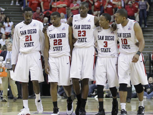 Despite earning a 6-seed, San Diego State tips off against North Carolina State as an underdog. (AP)