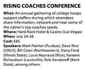 Rising Coaches Conference helps groom next generation of coaches