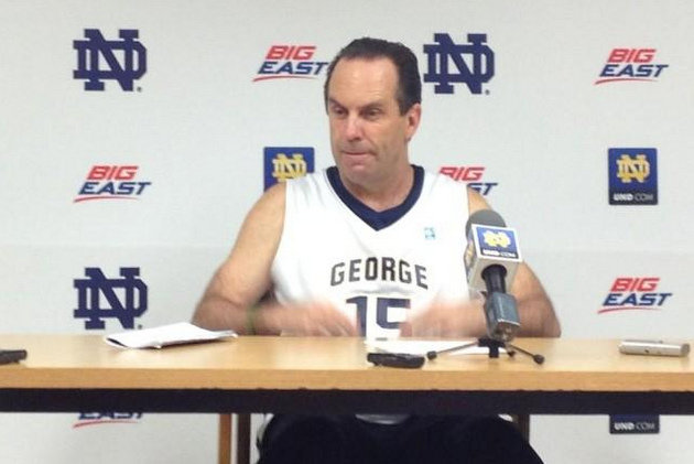 Mike Brey (photo via @cbrinks5)