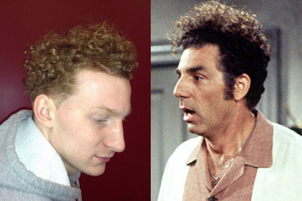 Mike Bruesewitz and Cosmo Kramer (photo of Bruesewitz via @BadgerMBB)