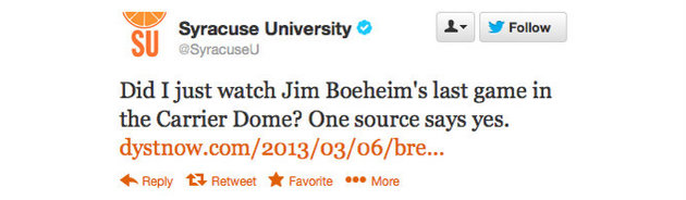 Syracuse apologizes for 'mistakenly sent' tweet about Jim Boeheim's future