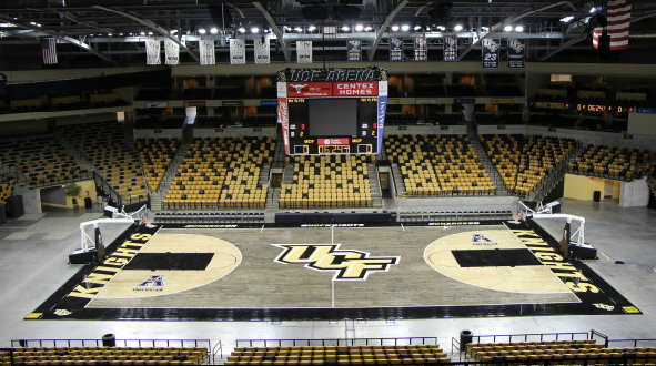 UCF's new blacktop floor (via UCF Athletics)
