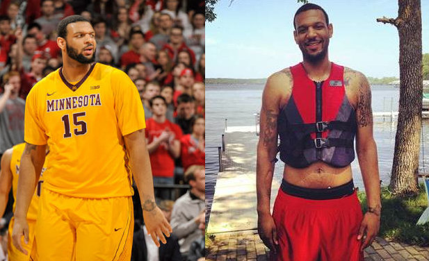 Mo Walker last season (AP) and after his weight loss (via Walker's instagram)