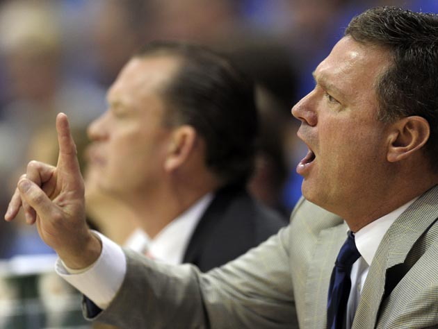 Kansas coach Bill Self wants the national anthem left alone. (AP)