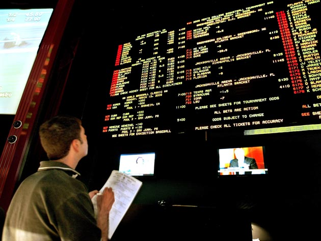 Las Vegas gamblers are licking their chops at an endless supply of Super Bowl prop bets this week. (AP)