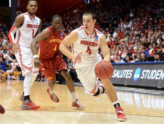 Aaron Craft was the most mentioned college basketball player on Facebook last weekend. (Getty)