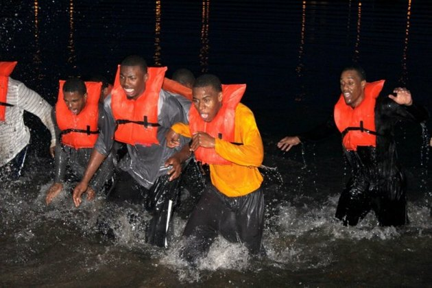 VCU players participate in Navy SEAL training this week (courtesy of VCU athletics)
