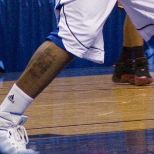 Rayvonte Rice's Drake Bulldogs 24 tattoo (US Presswire)