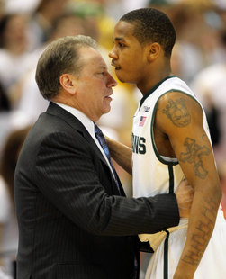 Tom Izzo and Keith Appling (USA Today Sports Images)