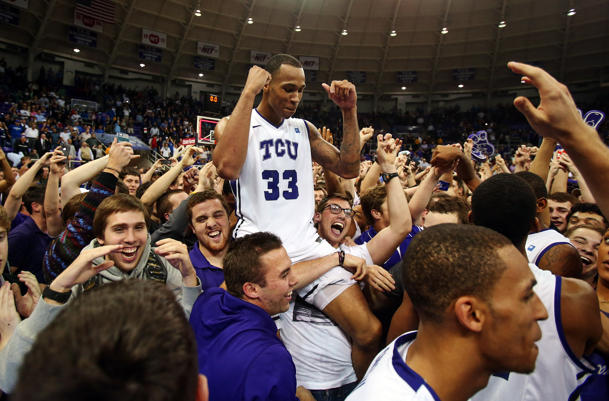 TCU's Garlon Green celebrates the victory over Kansas (USA Today Sports Images)