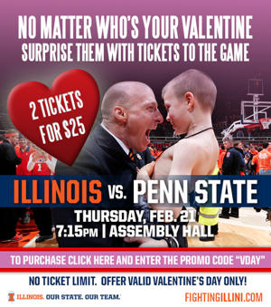 Illinois' Valentine's Day ticket promotion