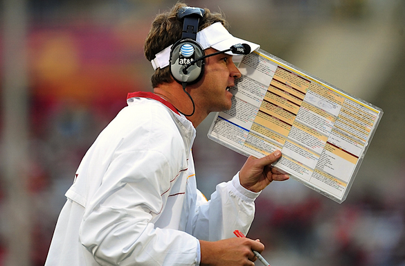 Lane Kiffin has a plan for USC's reduced scholarship numbers, but he's not telling what it is