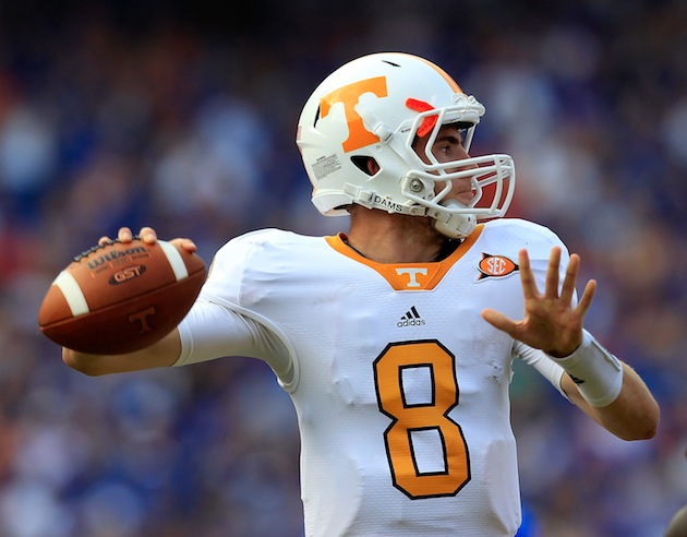 Derek Dooley would appreciate if Tyler Bray sticks to throwing footballs exclusively. (Getty)