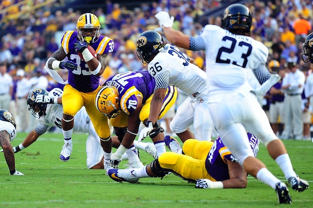 LSU beat Kent State 45-13 (Getty Images)