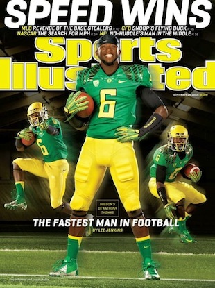 Oregon back De'Anthony Thomas graces this week's SI cover
