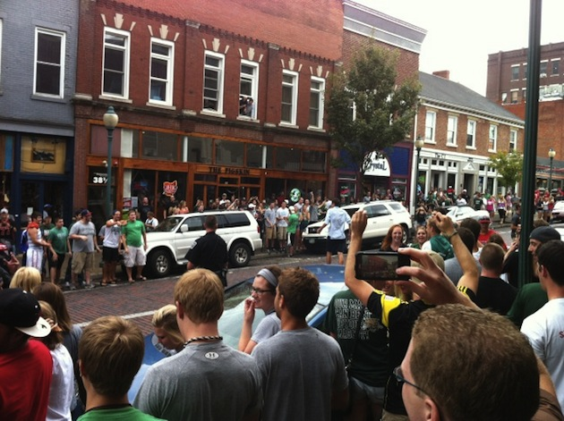 Ohio fans take their celebration to the streets of Athens
