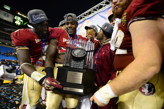 Which trophy did the Noles just win? (Bob Donnan/USA TODAY Sports)