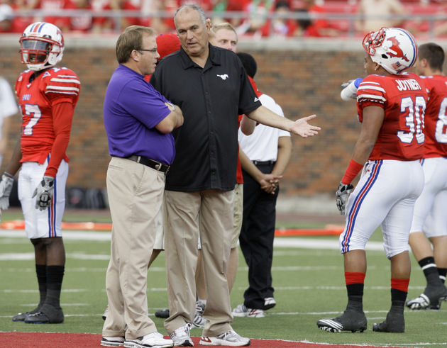 Gary Patterson (left) and June Jones (right) (Associated Press)
