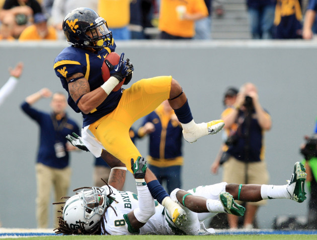 West Virginia's Stedman Bailey scores against Baylor (Associated Press)