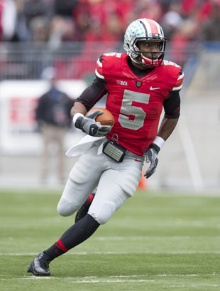 Braxton Miller makes a visit to the Bay area. (Greg Bartram/USA TODAY Sports)
