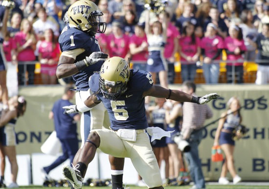 Pitt receiver Cam Saddler (AP/Keith Srakocic)