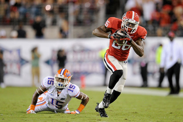 Georgia's Malcolm Mitchell will look to find the end zone again against Florida. (Kevin Liles/USA TODAY Sports)