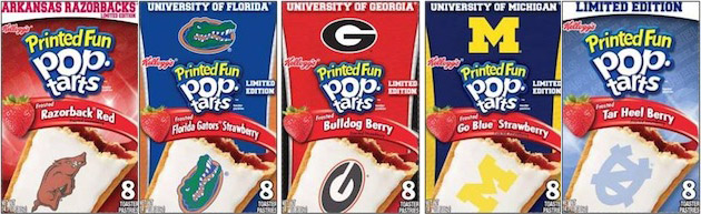 Kelloggs has turned your collegiate logo into a tasty toaster pastry