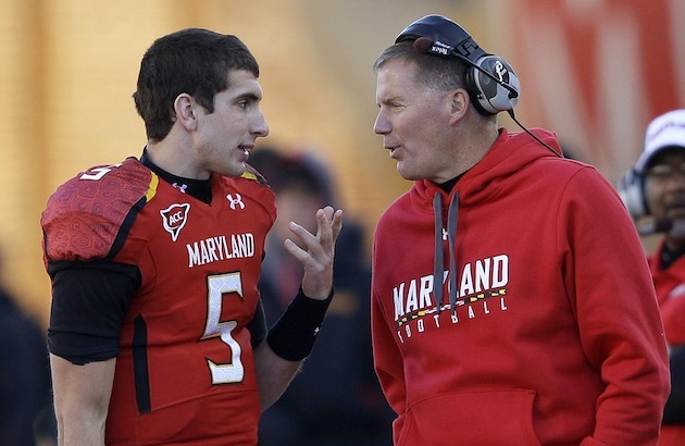 Danny O'Brien and Randy Edsall (Patrick Semansky/AP)