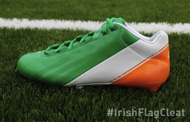 Notre Dame to wear Irish flag cleats for season opener in Ireland (photo)