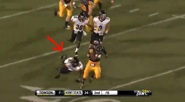 Anatomy of Andre Parker's now infamous wrong-way fumble return for Kent State