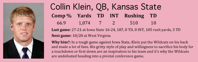 Heisman Watch: Geno Smith and Collin Klein square off