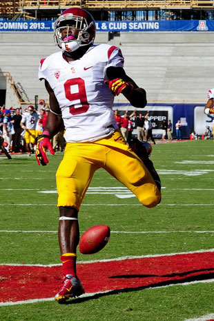 Marqise Lee will attempt to squash a potential Utah State upset. (Matt Kartozian/USA TODAY Sports)